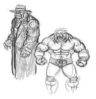 Undertaker vs Triple H by JonDavidGuerra
