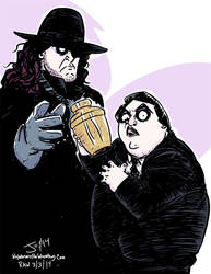The Undertaker and Paul Bearer by JonDavidGuerra by JonDavidGuerra