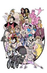 Doomsday Wrestling - Art Print by JonDavidGuerra