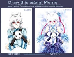 Draw this again meme: 2010 vs 2012 by SnowCorridor