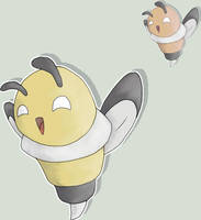 016 Fakemon Bumbly by ZeroGravityZone