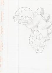 Potted Piranha Sketch by ZeroGravityZone