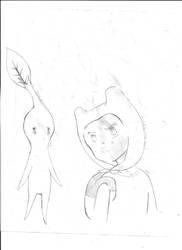 T2: Pikmin and Finn by ZeroGravityZone