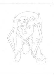Atlas Fakemon Sketch 01 by ZeroGravityZone