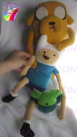 ADVENTURE TIME FINN AND JAKE PLUSH by chocoloverx3