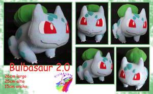 Bulbasaur plush 2.0 by chocoloverx3
