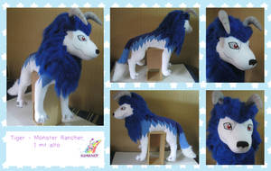giant Tiger monster rancher plushie by chocoloverx3