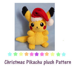 Christmas Pikachu plush pattern by chocoloverx3