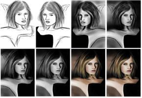 Girl study making of by Matou31
