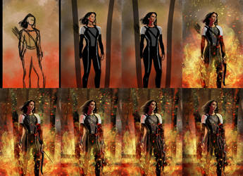 Hunger Games - Katniss Everdeen - Making-Of by Matou31