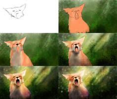 Fox Speedpainting - Making-of by Matou31