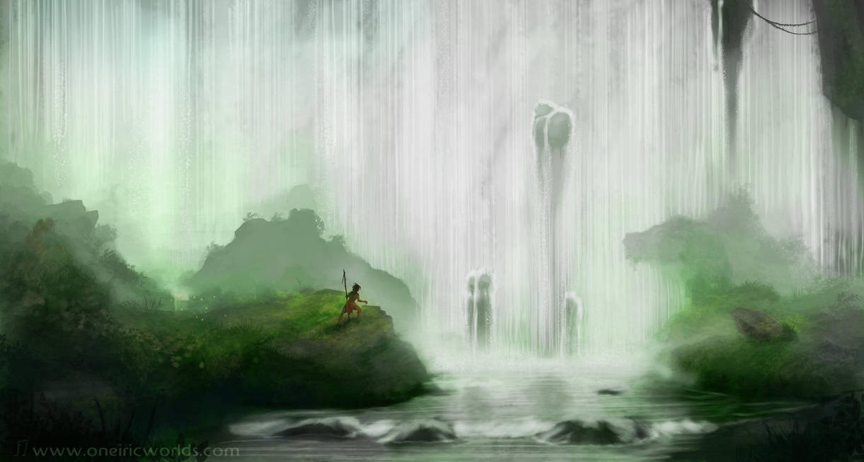 Jungle Falls by Matou31
