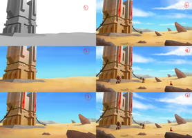 Sand Tower - Making-of by Matou31