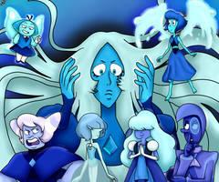 Blue diamond gems - Steven Universe by liniitadash23