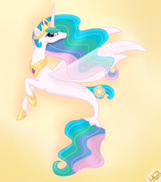 MLP The Movie - Princess Celestia SeaPony by liniitadash23