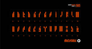 Angryorange font 1.1 by ykl