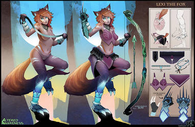 Lexi The Fox Design Sheet by CatCouch