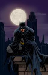 Batman by moonlight by joebenitez