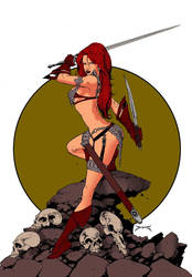 Red Sonja by joebenitez