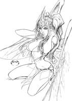 Sexy Grace digital inks by joebenitez