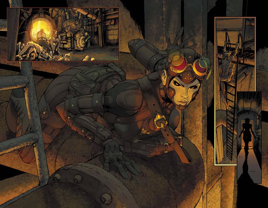 Lady Mechanika boiler scene by joebenitez