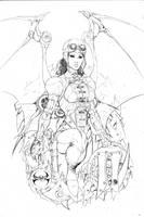 Lady DemoniKa pencils by joebenitez