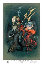 Lady M Stan Lees Comikaze Print by joebenitez