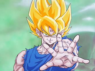 Goku Super Saiyan 1 by tenro1