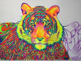 Psychedelic Tiger (WIP2) by NicoDauk