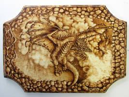 Dragon Woodburning by NicoDauk