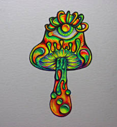 Trippy Mushroom by NicoDauk