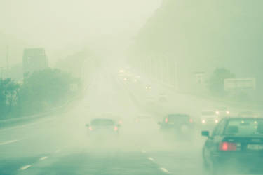 In the rain. by incredi