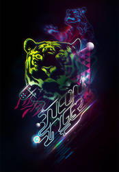 Neon Tiger by Aeoll
