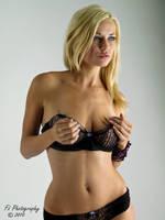 blonde in black by Flaming-Ink-Imaging