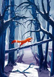 Winter woods by milesboard