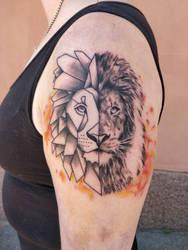 Lion tattoo  by sambRRR