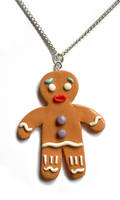Polymer Gingerbread Man by InvisibleSnow