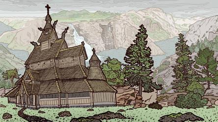 Norwegian Scene by jennyweatherup