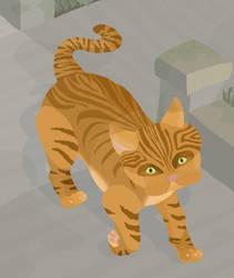 Walking Cat by jennyweatherup
