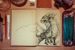 Dragon mockup by anka-kokos