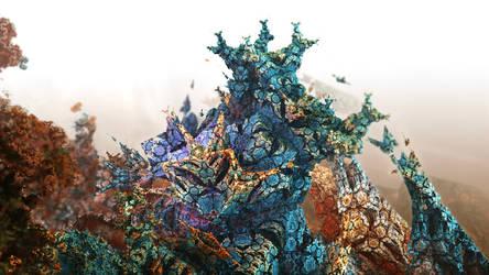 floralia on alien rock by Fiery-Fire
