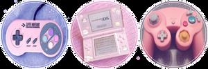 Pink Nintendo  by MissToxicSlime