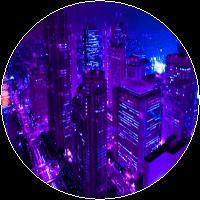Purple City by MissToxicSlime