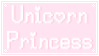 Unicorn Princess Stamp by CosmicStardustTea