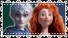 Merida x Jack Frost by CosmicStardustTea