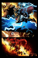 Thor vs The sentry by jadecks