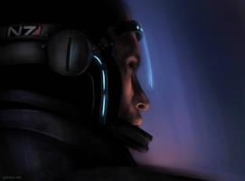 ME2: Shepard speed art by Spiritius