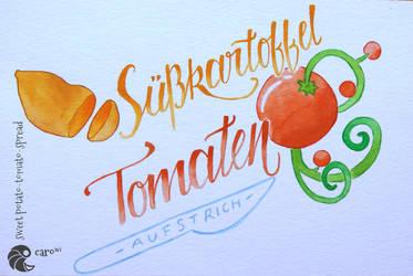 Sweet potato - tomato - spread by carowi