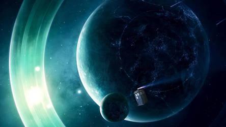TARDIS heads to moon by Richard67915