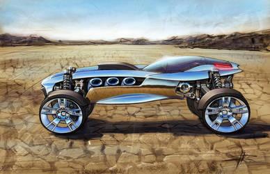 Desert car concept by remio